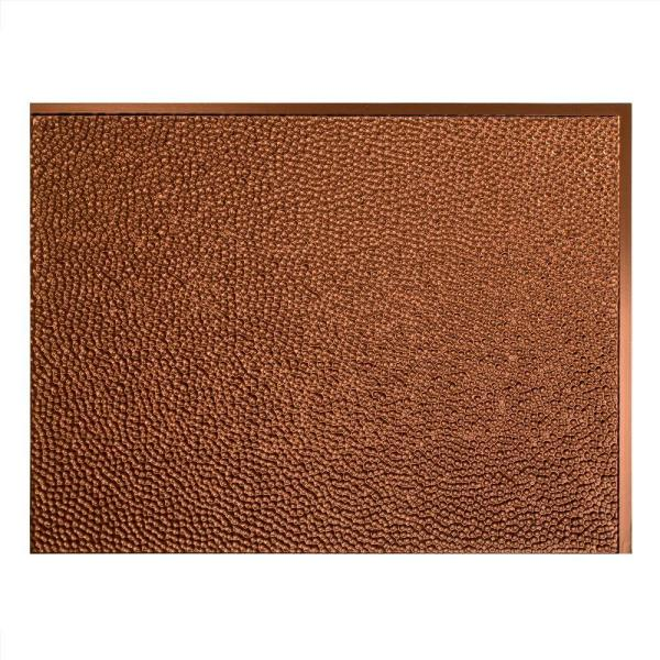 Fasade Hammered 18 In X 24 In Oil Rubbed Bronze Vinyl Decorative Wall Tile Backsplash 15 Sq Ft Kit N55 26 The Home Depot