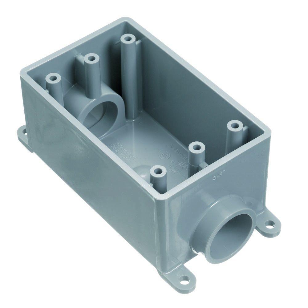 1/2 in. 1-Gang PVC FS Box (12 per Case)-E981DFN-CTN - The Home Depot