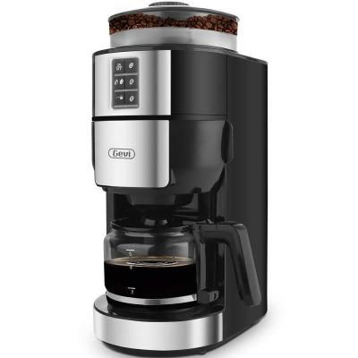 5-Cups 28 oz. Black Coffee Grinder Machine with Programmable Setting