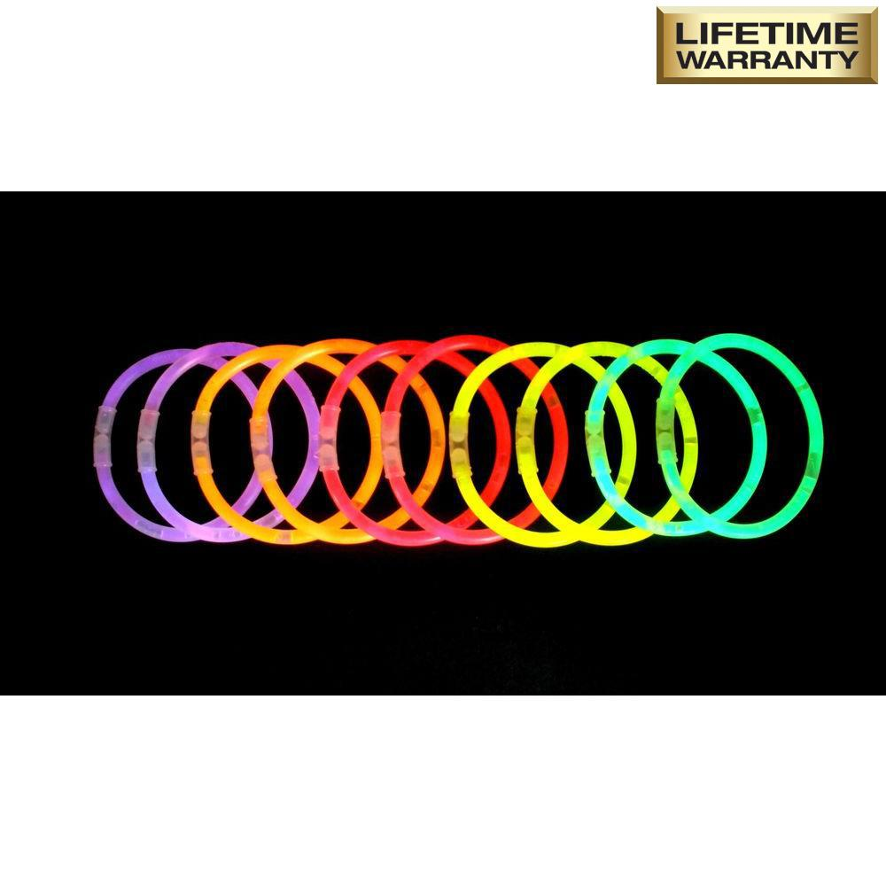 724f514c094e Home Accents Holiday 8 in. Glow Bracelets Assorted Colors (10-Pack ...
