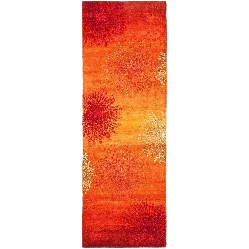Soho Rust/Multi 3 ft. x 6 ft. Runner Rug