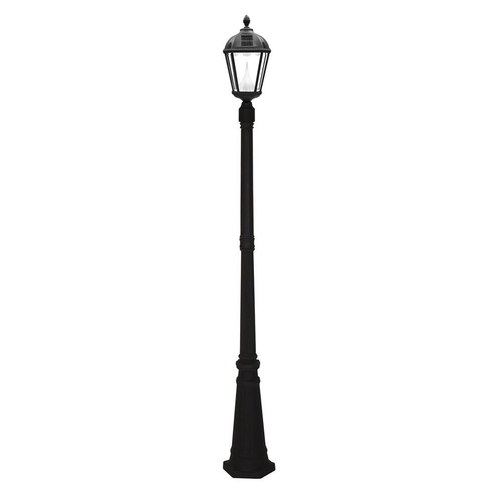 Gama Sonic Royal Solar Black Outdoor Lamp Post-GS-98S-B - The Home ...