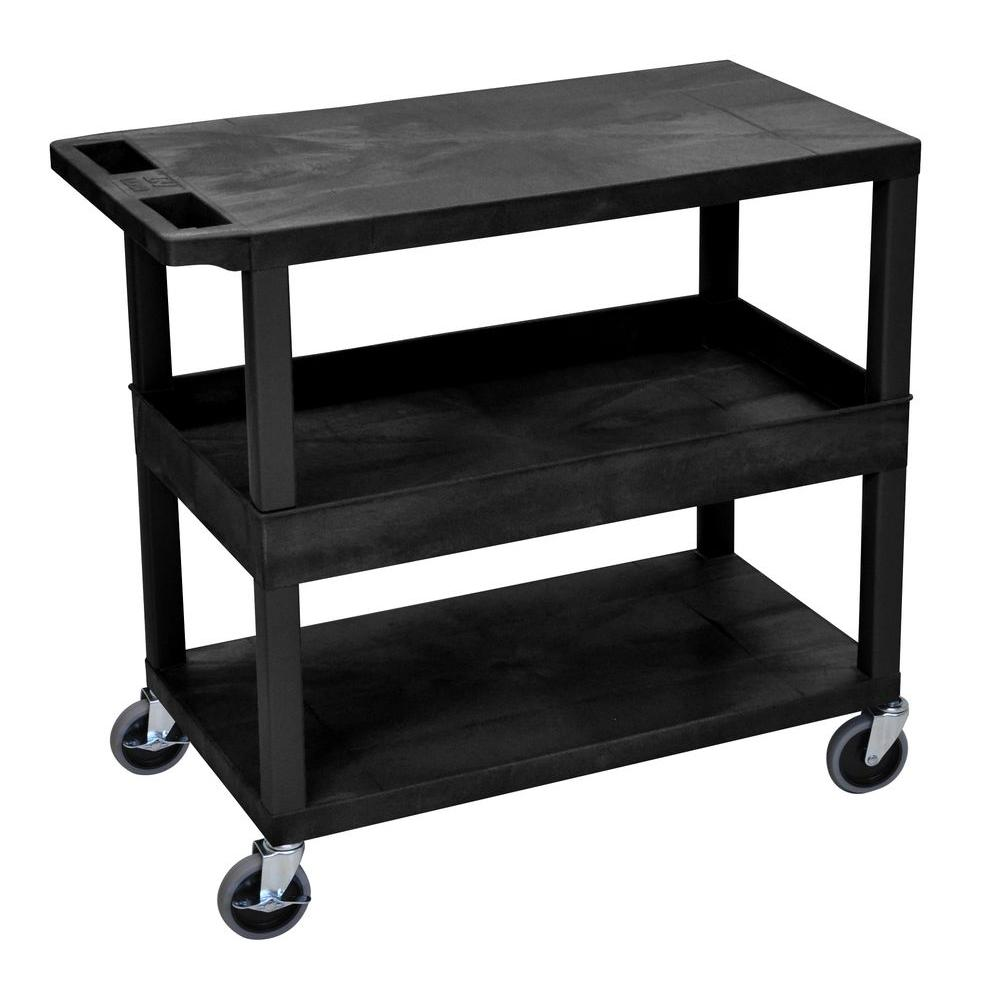 EC Series 18 in. W x 35 in. L 3-Shelf Utility