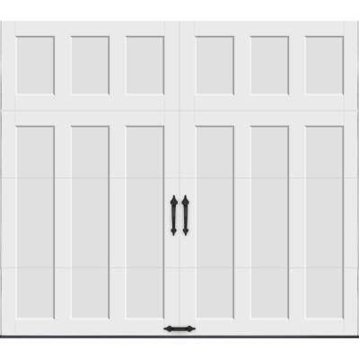 Coachman Collection 8 ft. x 7 ft. 18.4 R-Value Intellicore Insulated Solid White Garage Door