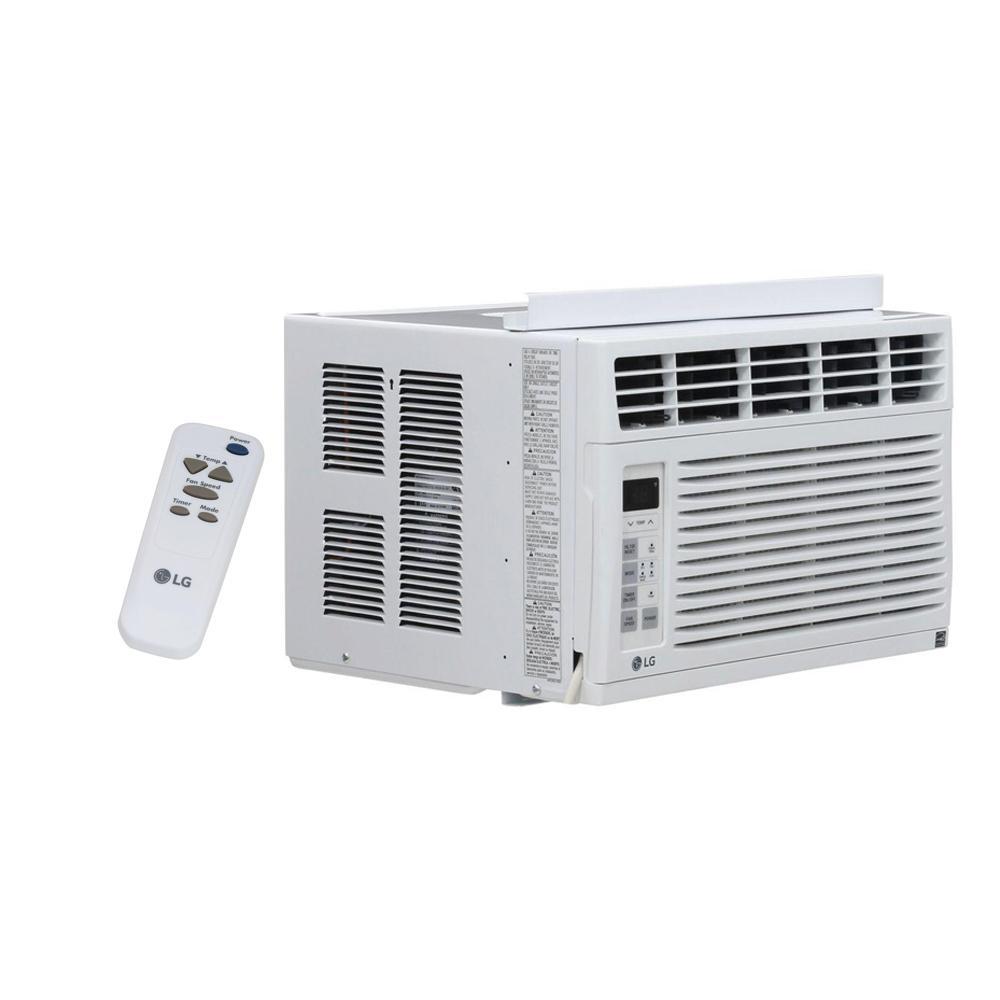 lg electronics 6 000 btu 115 volt window air conditioner with remote lw6015er the home depot. Black Bedroom Furniture Sets. Home Design Ideas