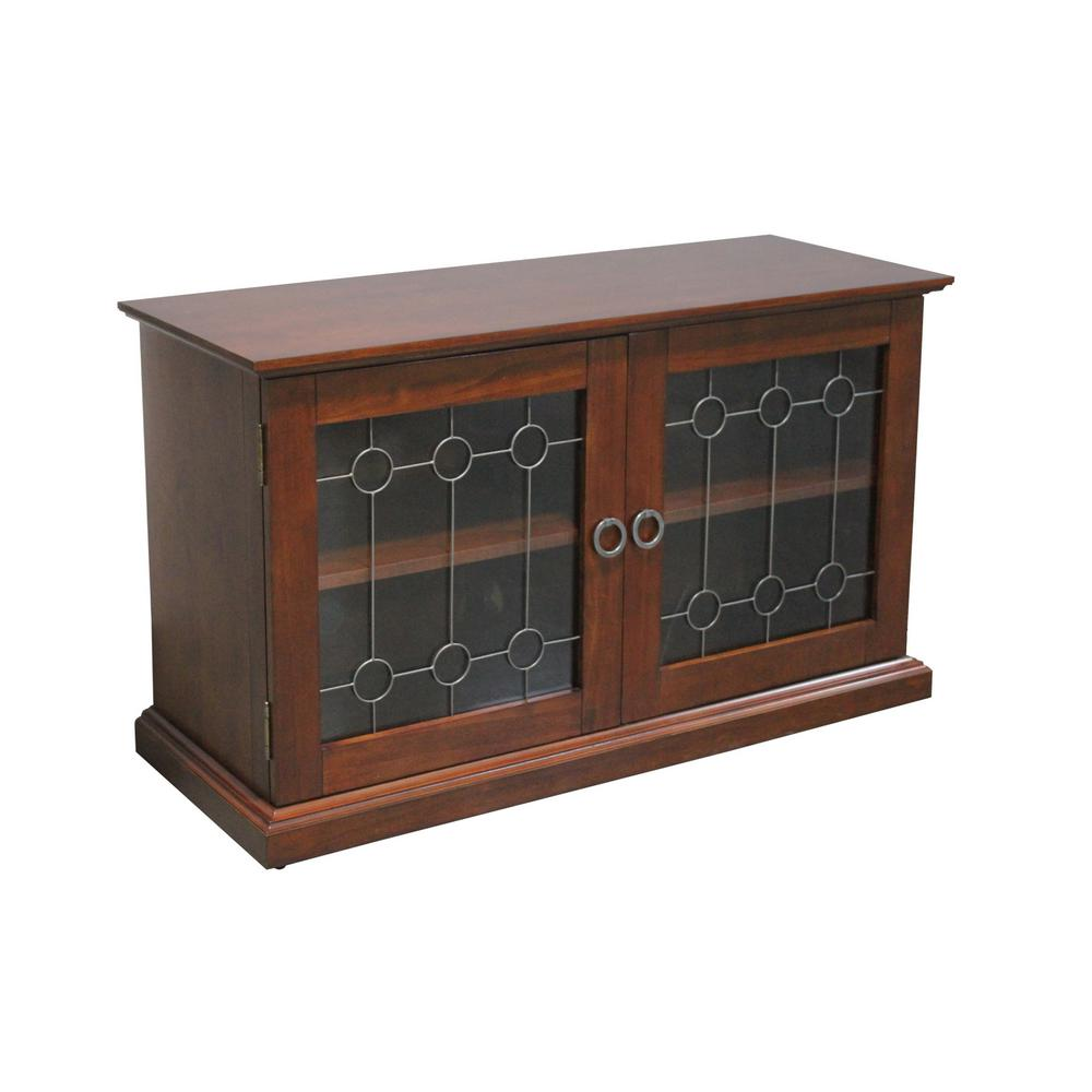 Home styles franklin media tv stand cabinet in cherry 5081 09 the home depot Home furniture tv stands