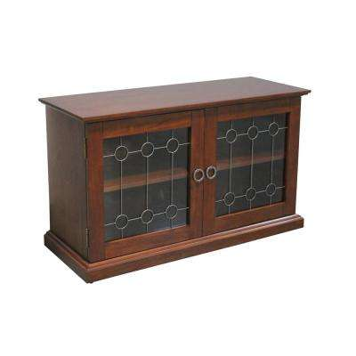 Franklin Media TV Stand Cabinet in Cherry