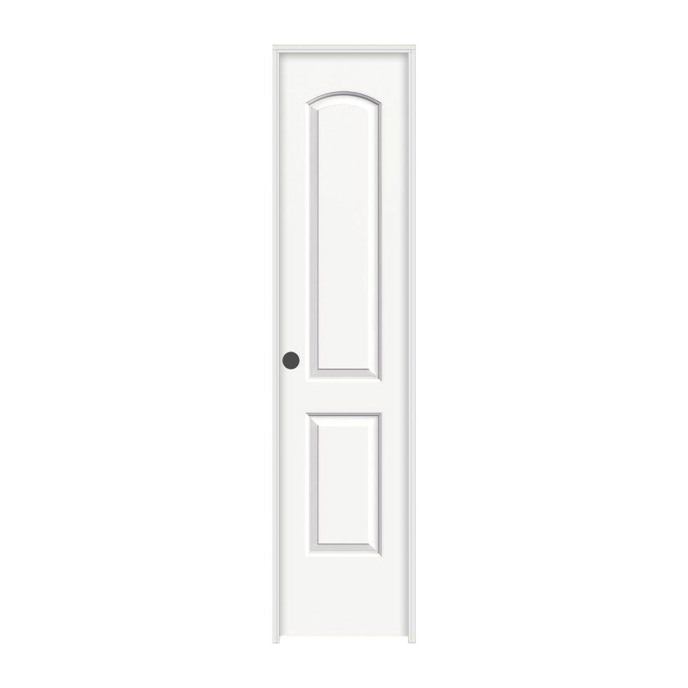 Jeld Wen 18 In X 80 In Continental White Painted Right Hand Smooth Molded Composite Mdf Single