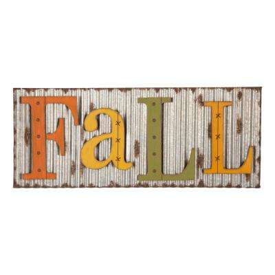 36 in. L Fall Metal Sign Hanging Decor