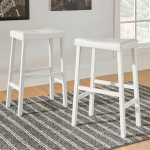 29 inch White Cushioned Bar Stool (Set of 2) by