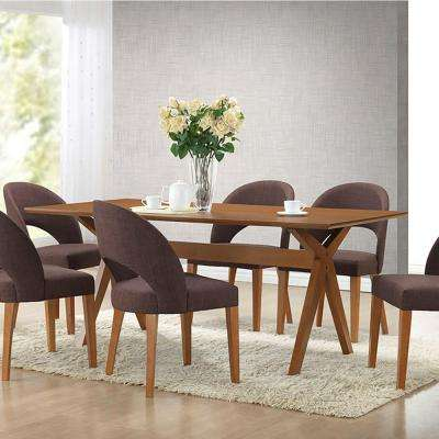 Lucas Walnut Brown Dining Table
