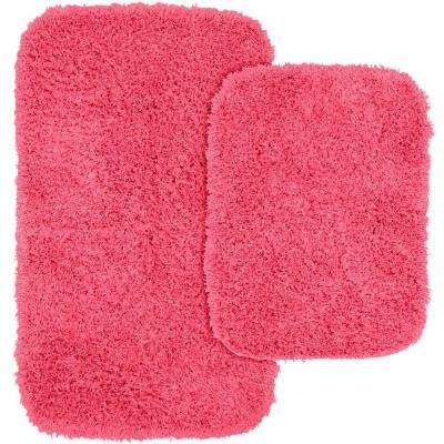 Washable Bathroom 2 Piece Rug Set
