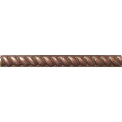 Copper Half Round Rope Molding 1/2 in. x 6 in. Metal Wall Tile (0.5 ln. ft.)