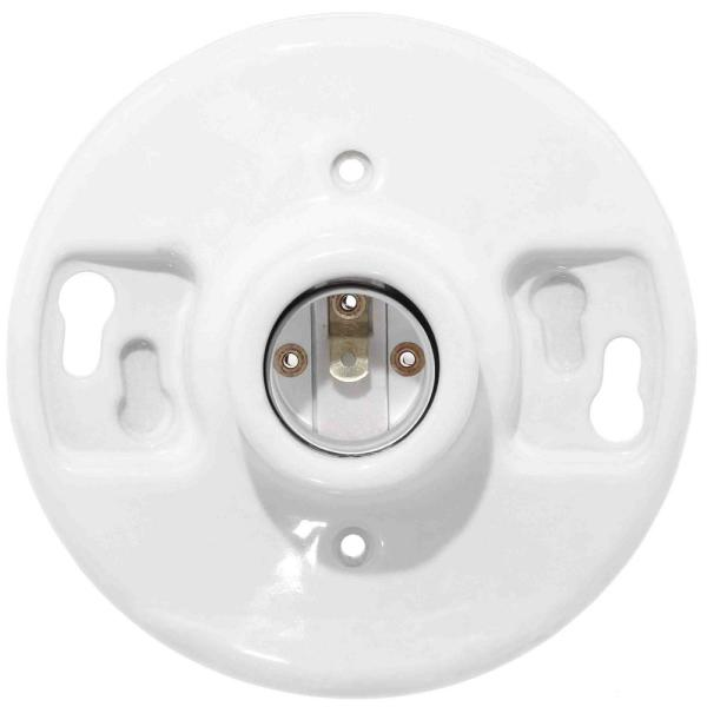 Leviton 600 Watt 250 Volt White Outlet Box Lampholder R50 49875 000 The Home Depot