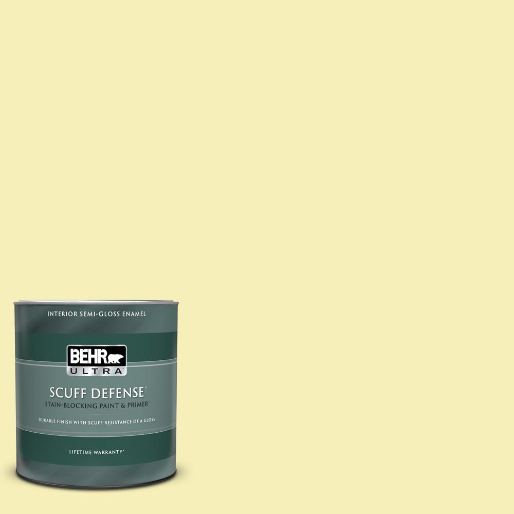 Behr Ultra 1 Qt 400a 2 Summer Resort Extra Durable Semi Gloss Enamel Interior Paint And Primer In One 375004 The Home Depot