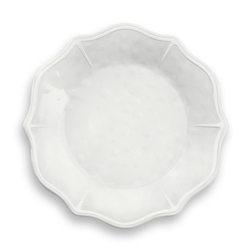 Savino White Melamine Dinner Plate (Set of 6)