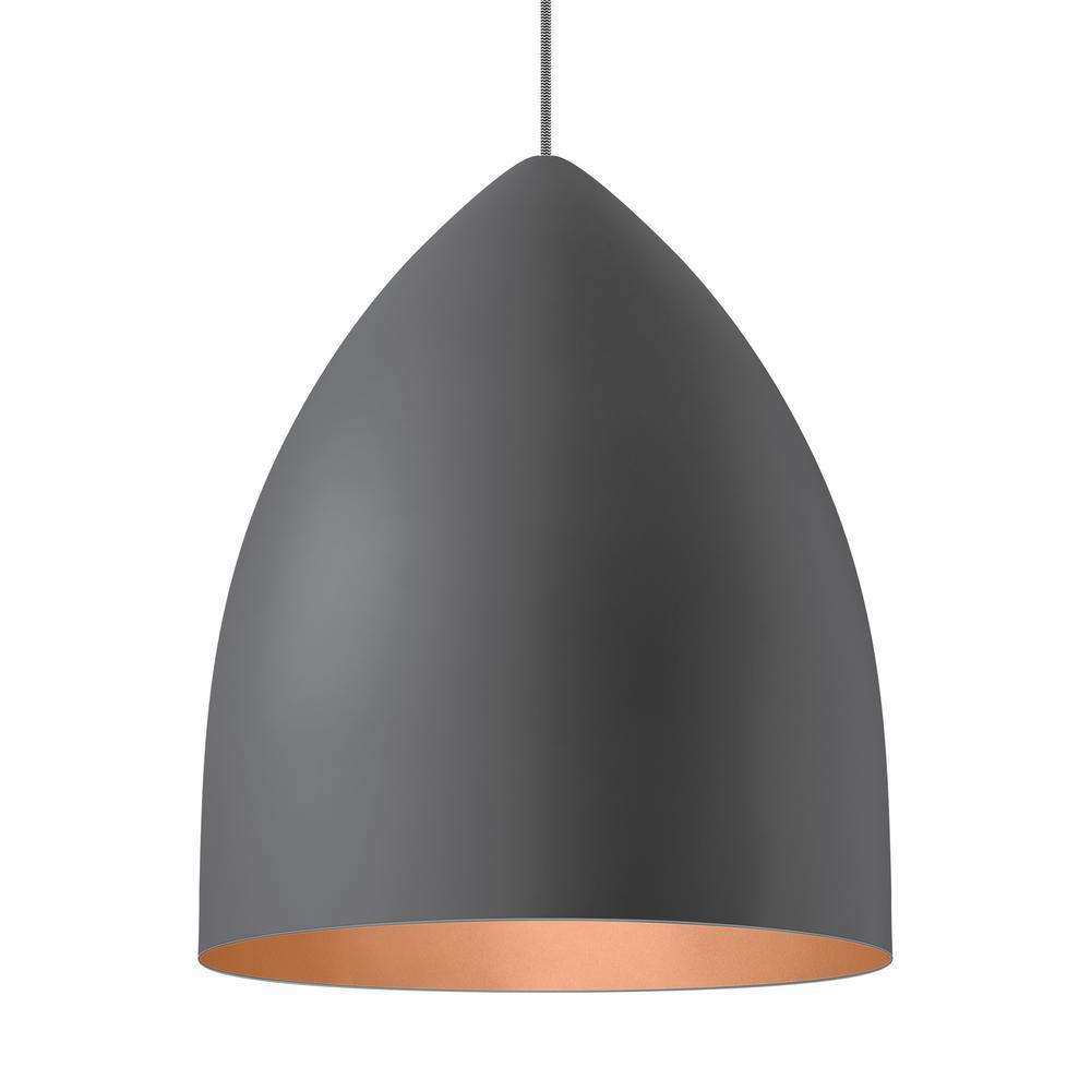 LBL Lighting Signal Grande 1-Light Gray LED Line-Voltage Pendant LBL Lighting Signal Grande 1-Light Gray LED Line-Voltage Pendant
