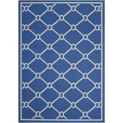 Rope Navy 10 ft. x 13 ft. Indoor/Outdoor Area Rug
