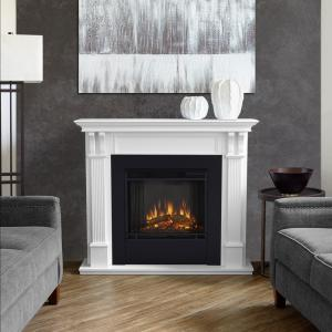 Real Flame Ashley 48 In Electric Fireplace In White 7100e