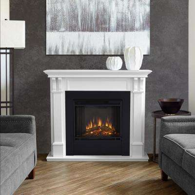 Lovely Ashley 48 In. Electric Fireplace In White