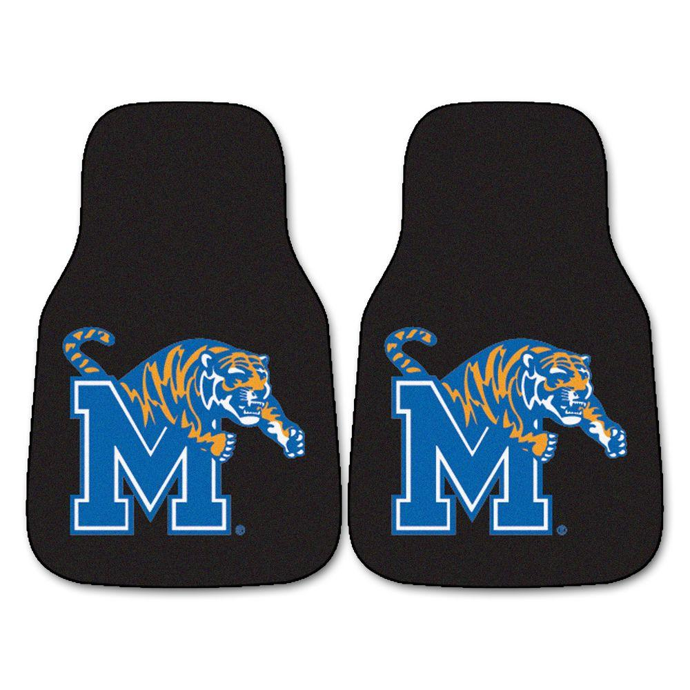 University of Memphis 18 in. x 27 in. 2-Piece Carpeted Car