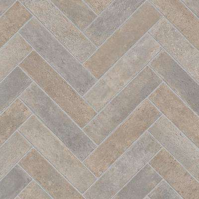 Take Home Sample - Brick Neutral Vinyl Sheet - 6 in. x 9 in.