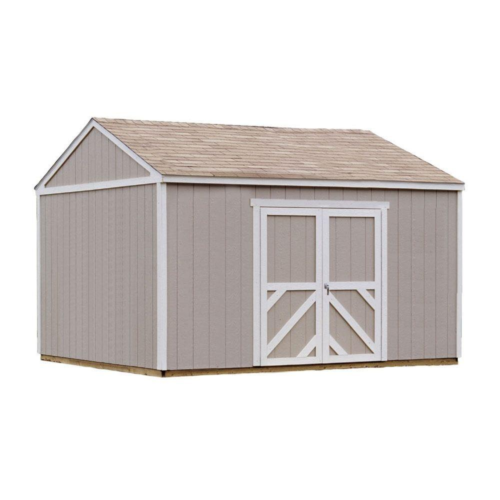 Handy Home Products Columbia 12 ft. x 16 ft. Wood Storage Building Kit