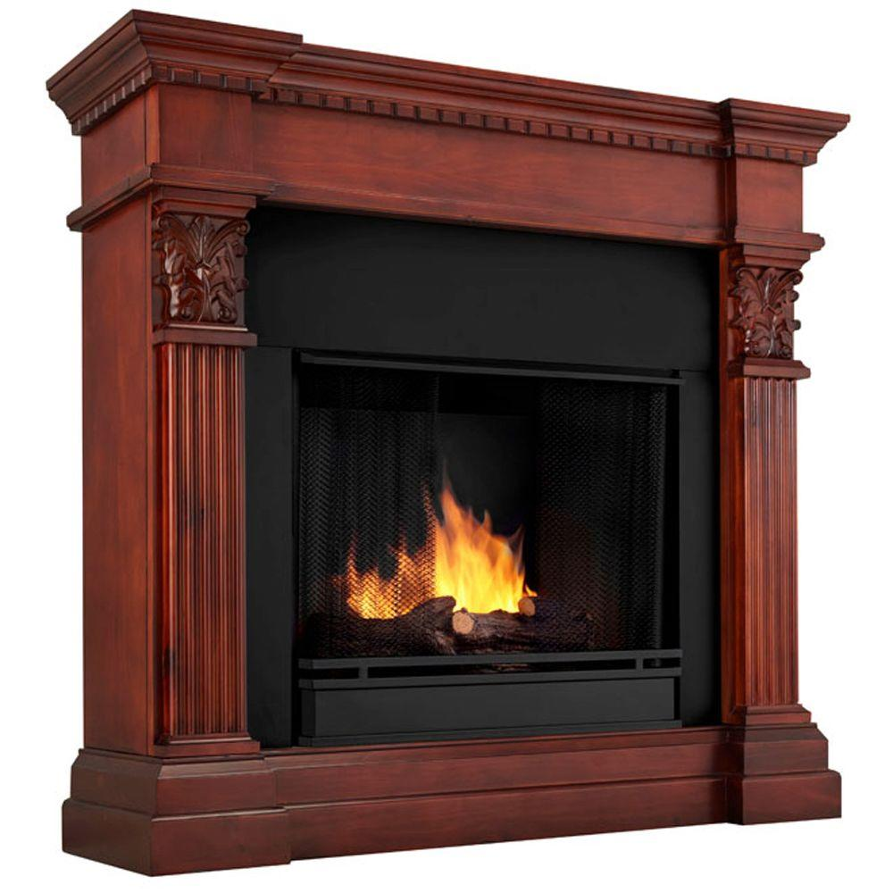 Real Flame Gabrielle 42 in. Gel Fuel Fireplace in Dark Mahogany-DISCONTINUED