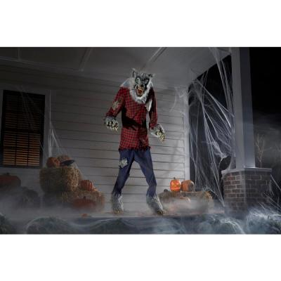 7 ft. Animated Howling Werewolf with LifeEyes