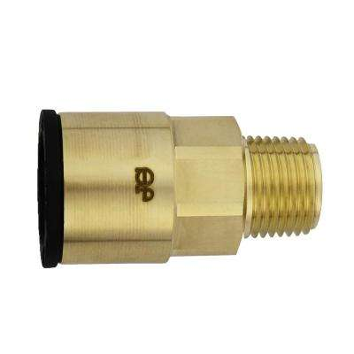 3/4 in. CTS x 1/2 in. NPT Brass ProLock Push-to-Connect Male Connector (5-Pack)