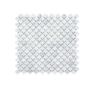 Cloudy Daze 11.625 in. x 11.625 in. x 10 mm Natural Stone Mosaic Tile
