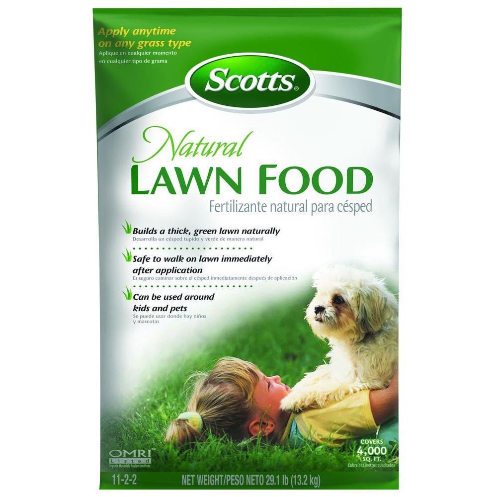 Scotts Natural 29 5lb 4m Lawn Food