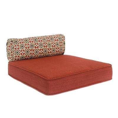 Fall River 20.25 x 21.5 Outdoor Dining Chair Cushion in Standard Chili