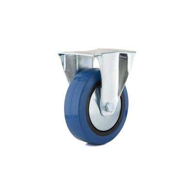 6-5/16 in. Blue Fixed plate Caster, 308.7 lb. Load Rating