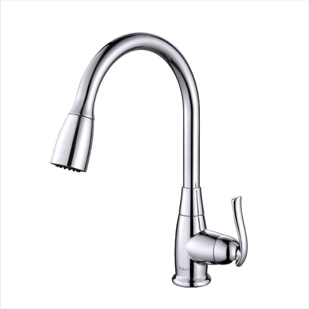 High Quality Single Handle Stainless Steel High Arc Pull Down Kitchen Faucet With