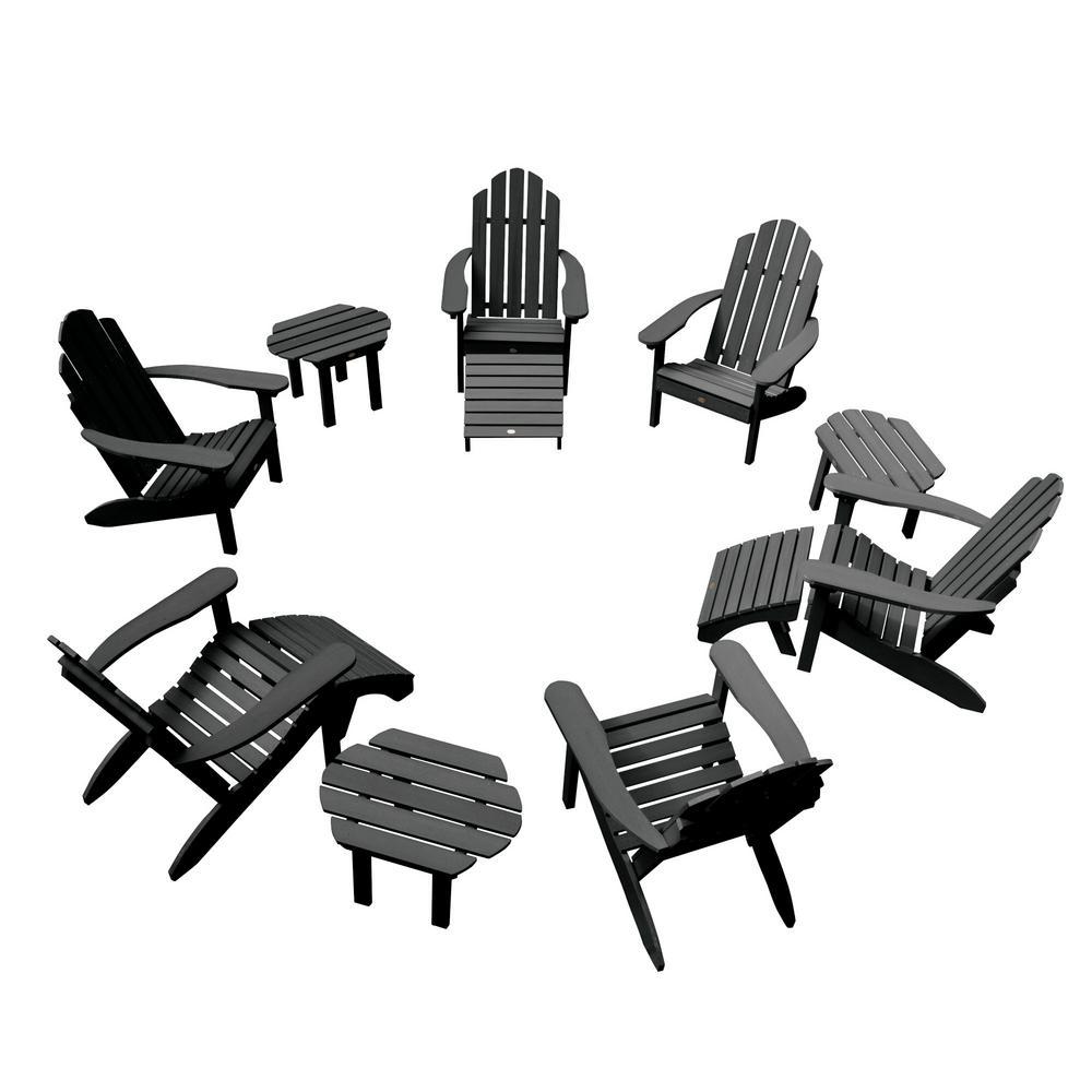 Classic Wesport Black 12-Piece Plastic Patio Fire Pit Seating Set