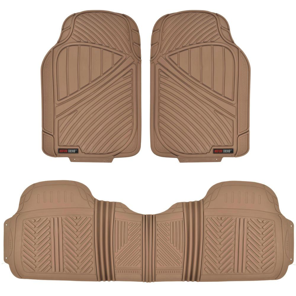 FlexTough MT-773 Beige Heavy Duty 3 Piece All Weather Rubber Car
