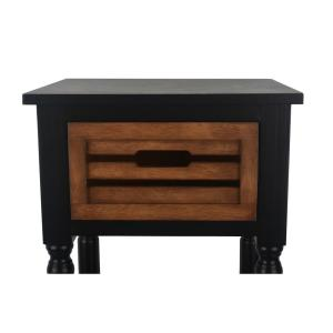 Etonnant +3. Decor Therapy Melody Black And Hone Oak 1 Drawer End Table