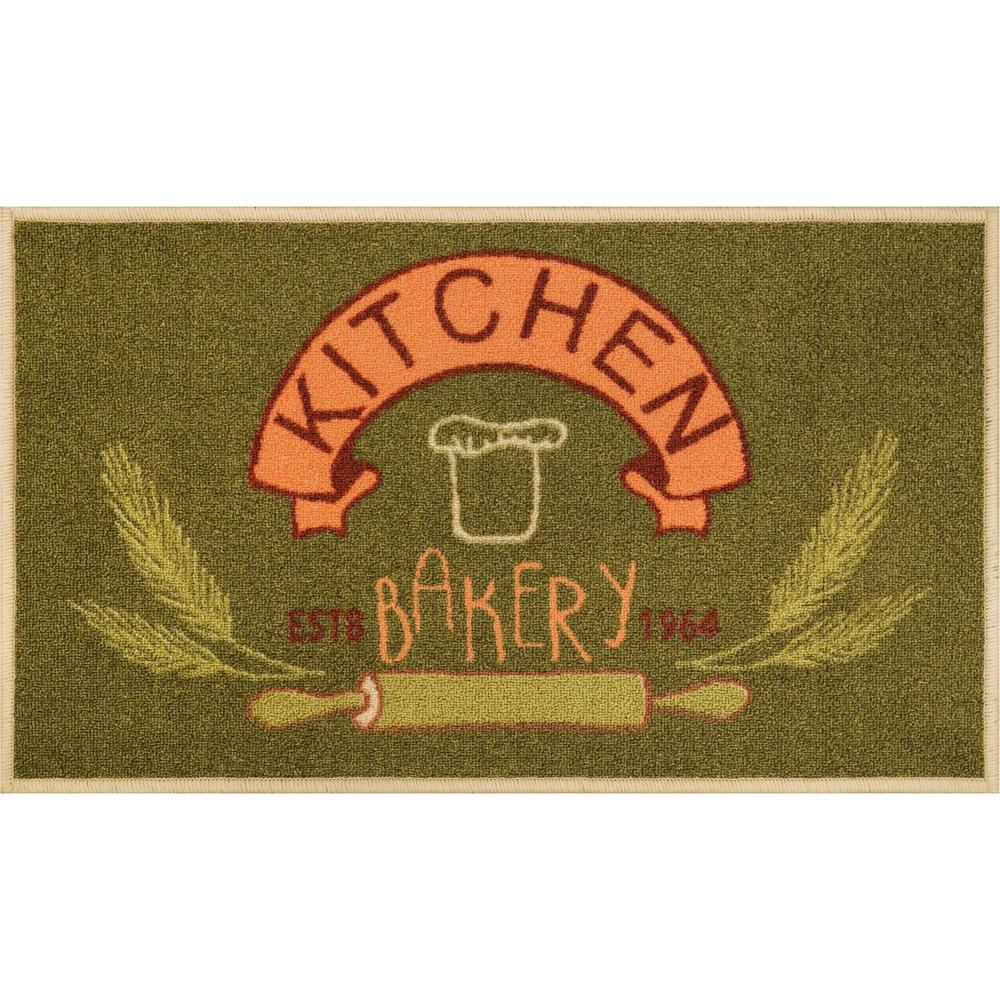 Woven Kitchen Rugs: Well Woven Kings Court Kitchen Bakery Green 2 Ft. X 5 Ft