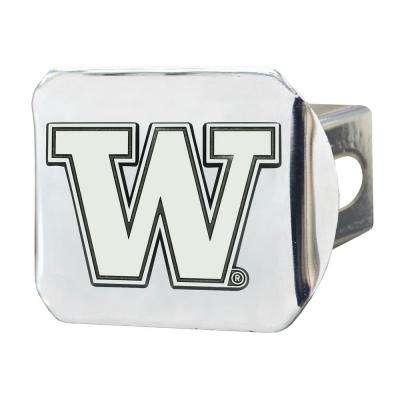 NCAA University of Washington 2 in. Type III Chrome Hitch Cover with Chrome Emblem