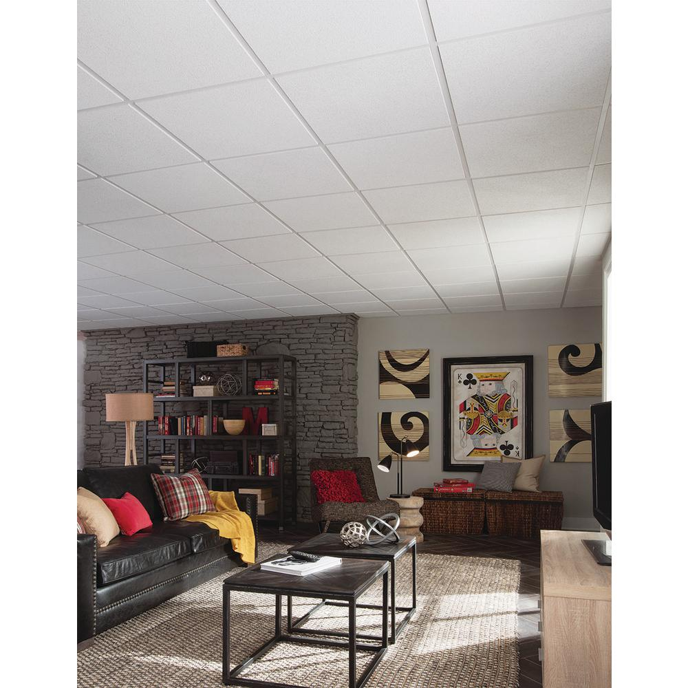 Armstrong Ceilings Classic Fine Textured Regular 24 In X 24 In X 3 4 In Ceiling Panels 12 Pack