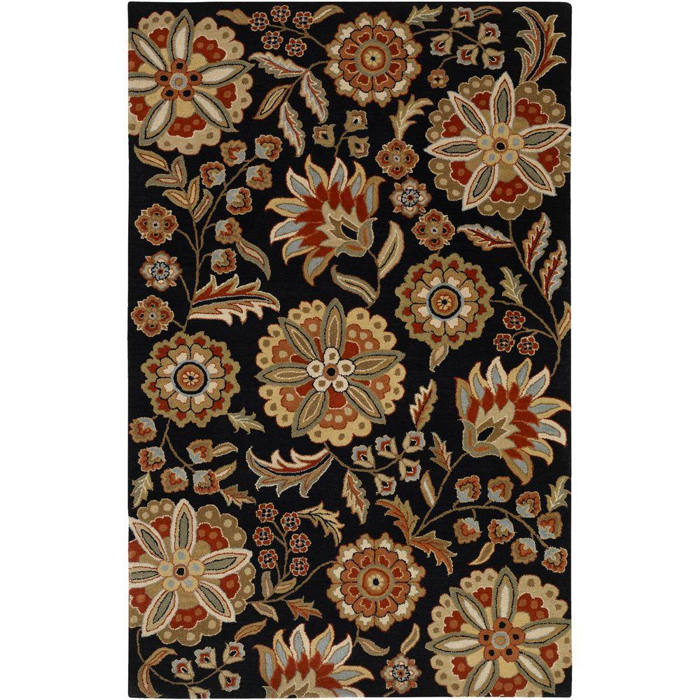 Artistic Weavers Sarah Black 5 Ft X 8 Area Rug Sar 5017 The Home Depot