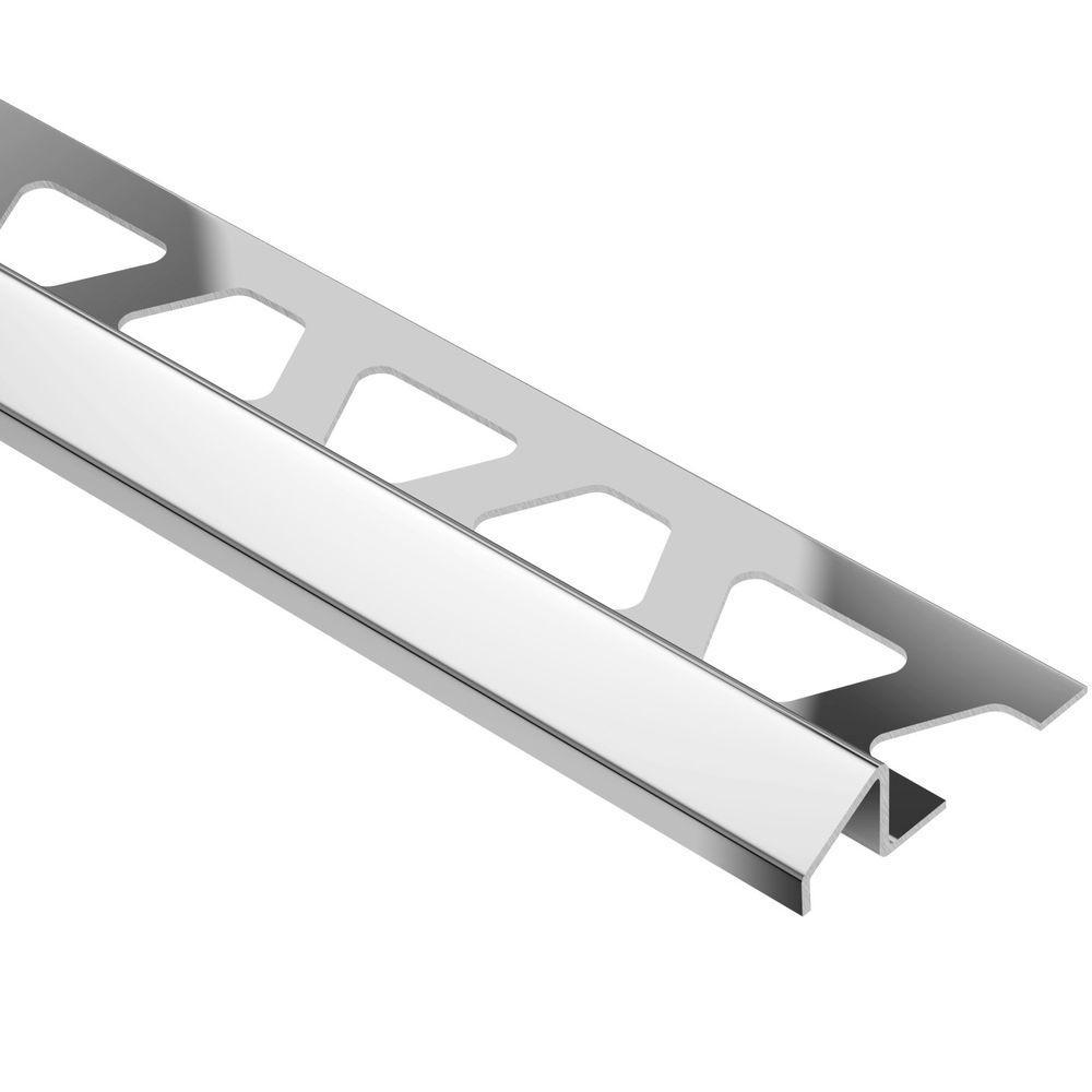 Schluter Reno-U Stainless Steel 3/8 in. x 8 ft. 2-1/2 in. Metal Reducer Tile Edging Trim