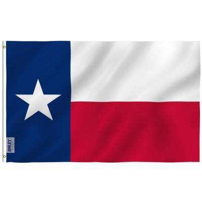 Fly Breeze 4 ft. x 6 ft. Polyester State Texas Flag 2-Sided Flags Banner with Brass Grommets and Canvas H