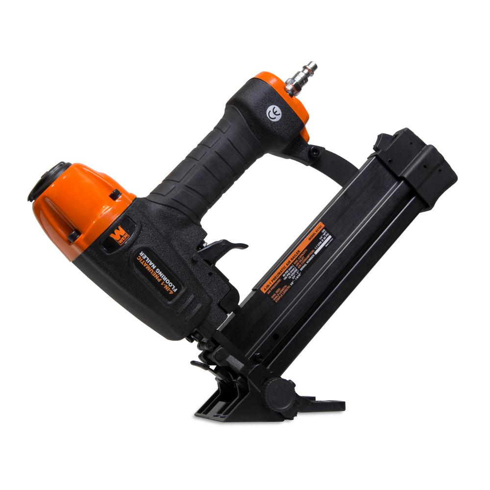 Wen 4 in 1 18 gauge pneumatic flooring nailer and stapler for 18 gauge floor stapler