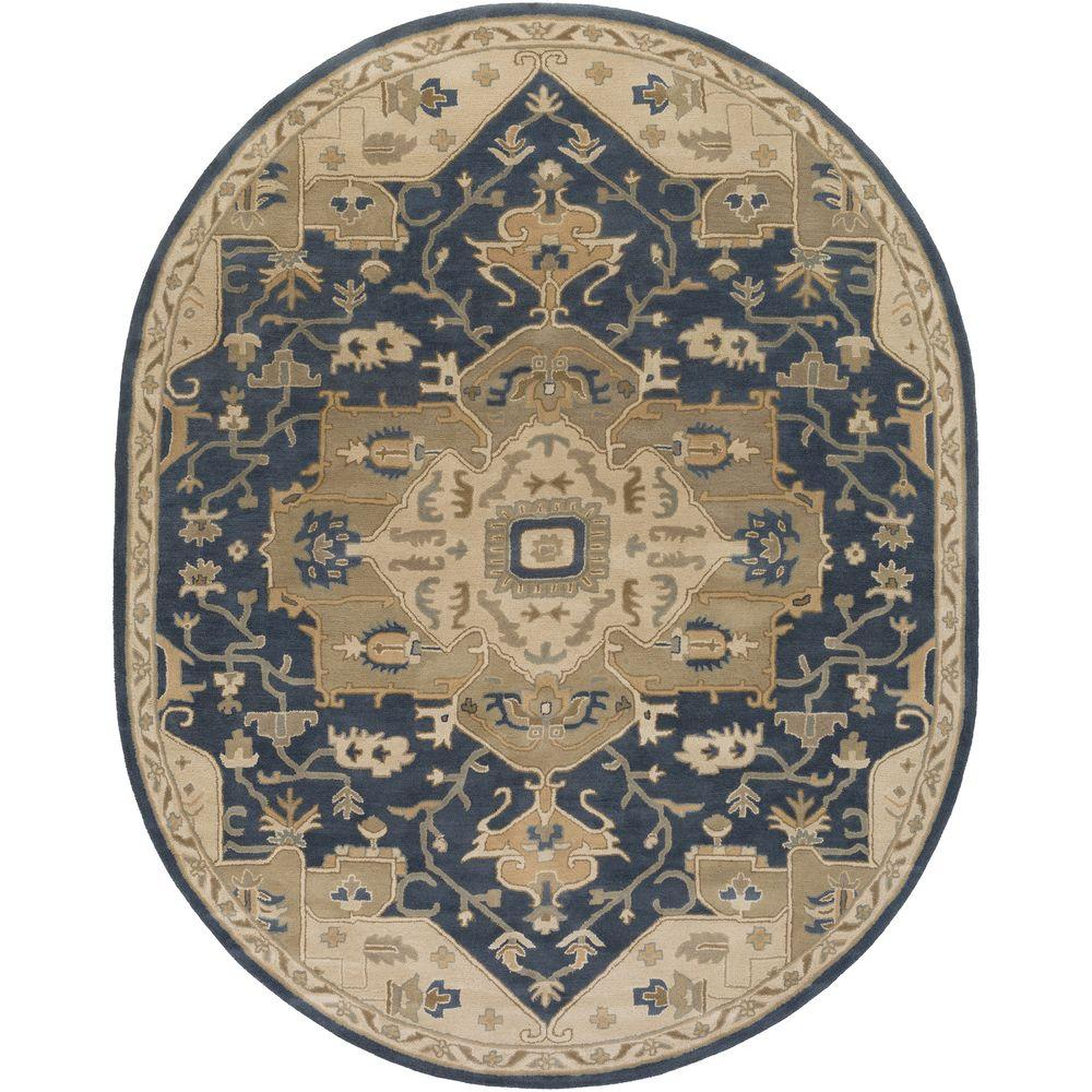 Artistic Weavers Demetrios Navy 6 Ft X 9 Ft Indoor Oval