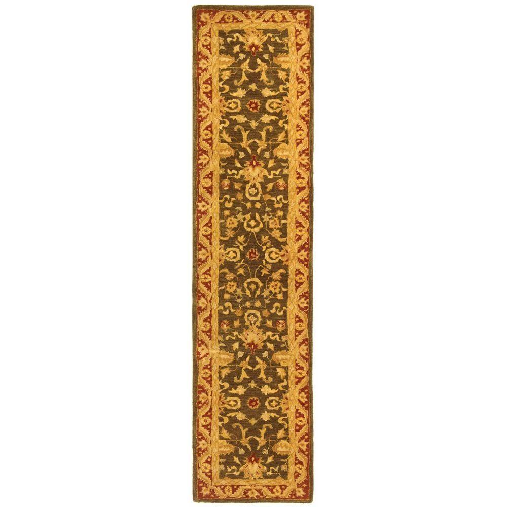 Safavieh Anatolia Charcoal/Red 2 ft. 3 in. x 12 ft. Runner