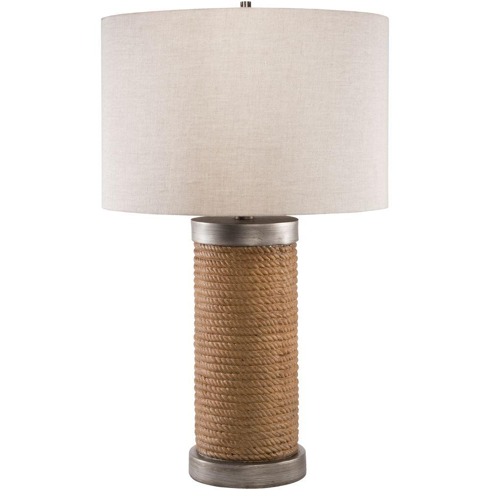 Piccard 26.5 in. Brown Indoor Table Lamp