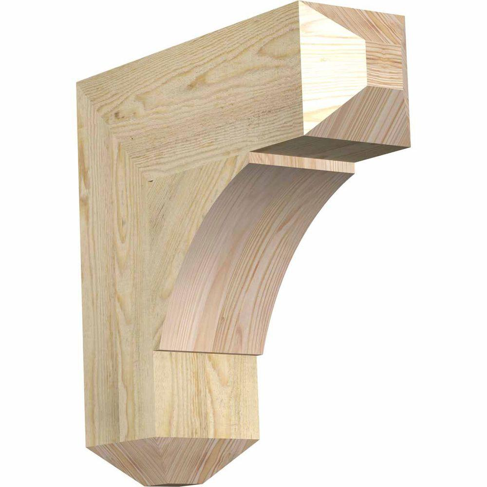 Ekena Millwork 6 in. x 20 in. x 20 in. Douglas Fir Thorton Craftsman Rough Sawn Bracket