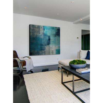 """48 in. H x 48 in. W """"Meditation in Blue"""" by Marmont Hill Printed Brushed Aluminum Wall Art"""